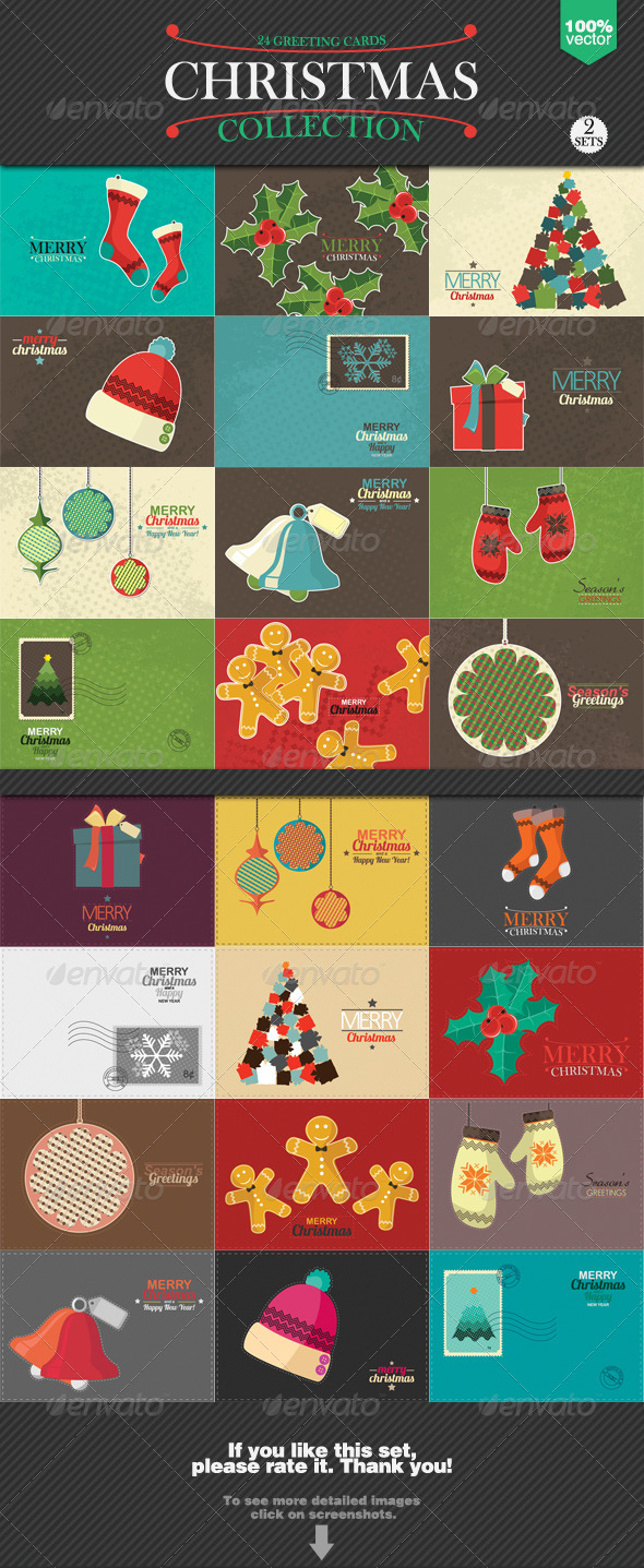 GraphicRiver Christmas Greeting Cards Collection 6015151