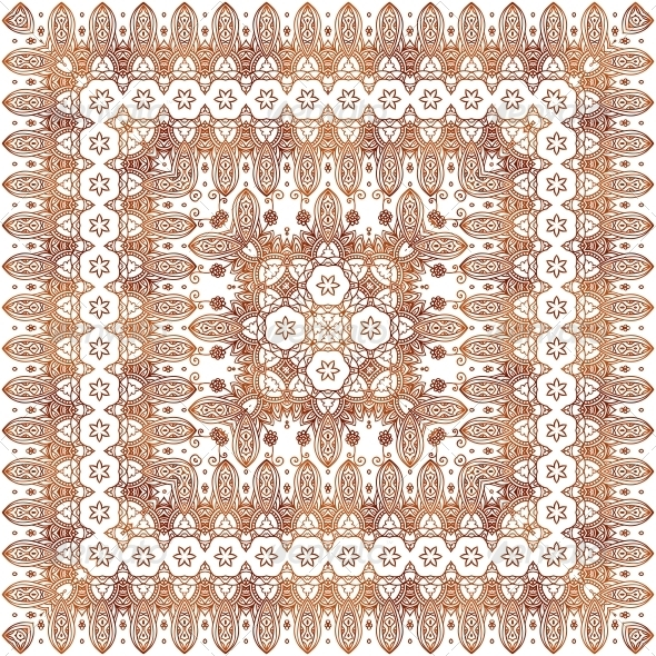 GraphicRiver Vintage Beige Lacy Ornate Shawl Vector Pattern 6015216