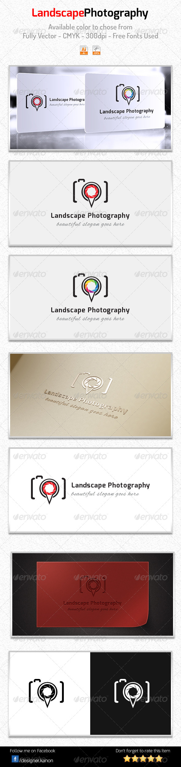 GraphicRiver Landscape Photography Logo 6015369