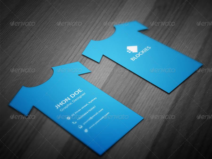T Shirt Business Card Template By Kazierfan Graphicriver