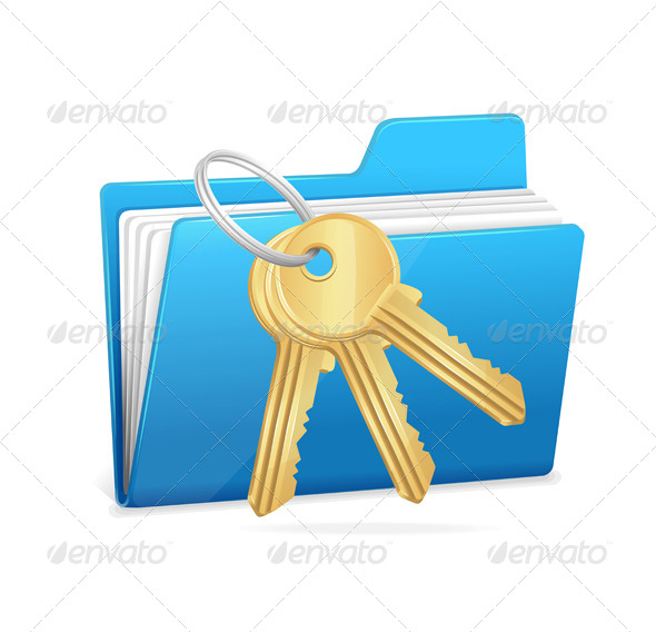 GraphicRiver Computer Folder and Key 6015507