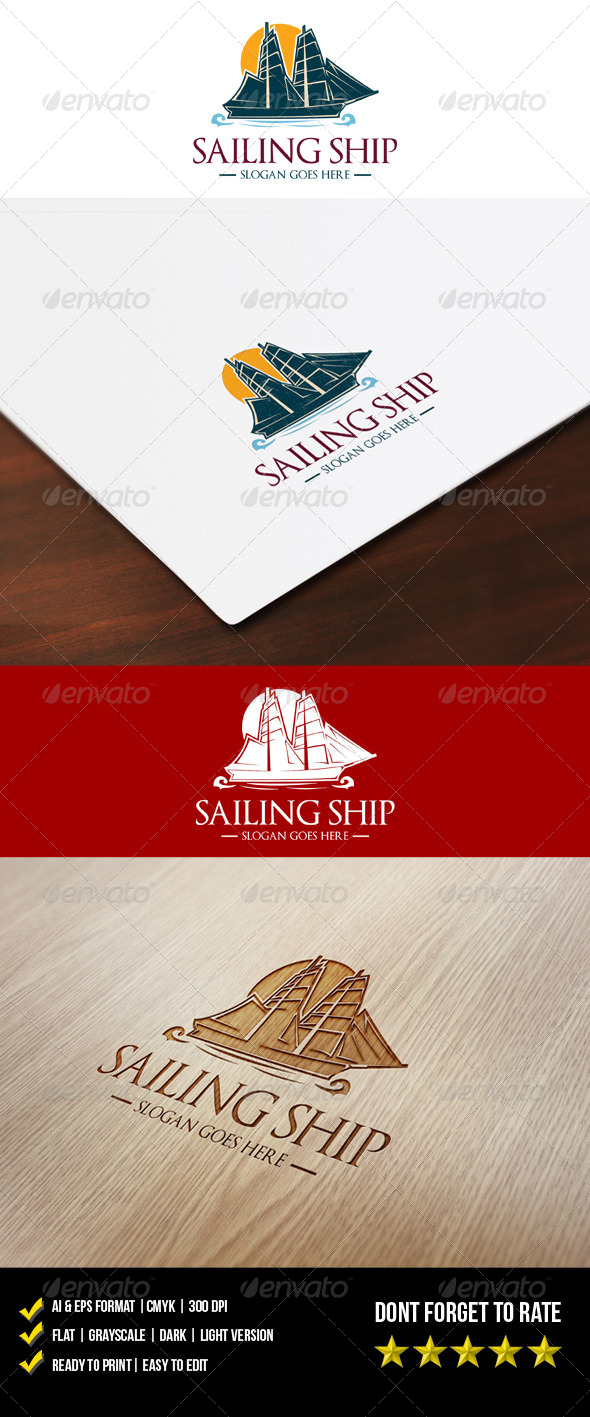 Sailing Ship Logo - Objects Logo Templates