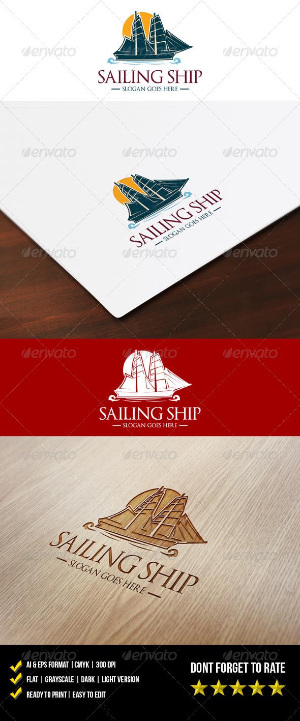 GraphicRiver Sailing Ship Logo 6015922
