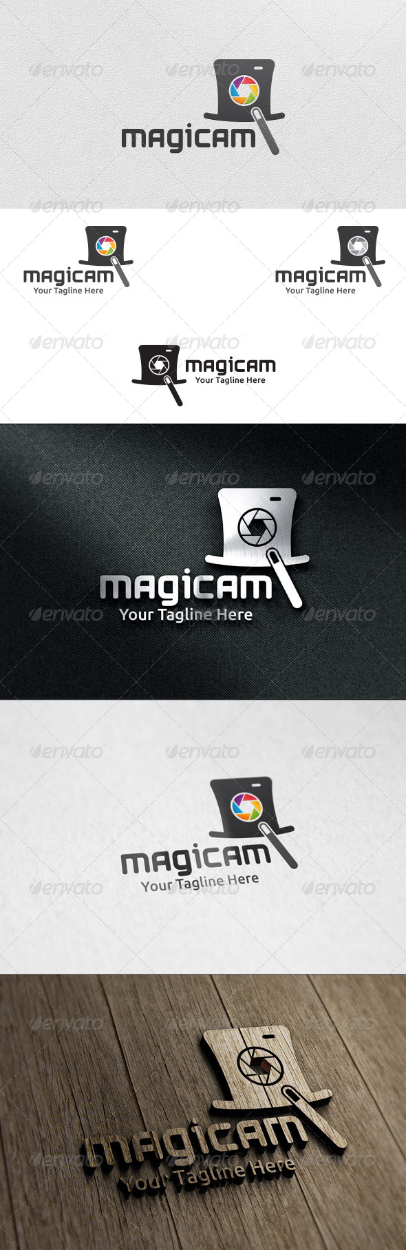 GraphicRiver Magic Camera Logo Template 6016541