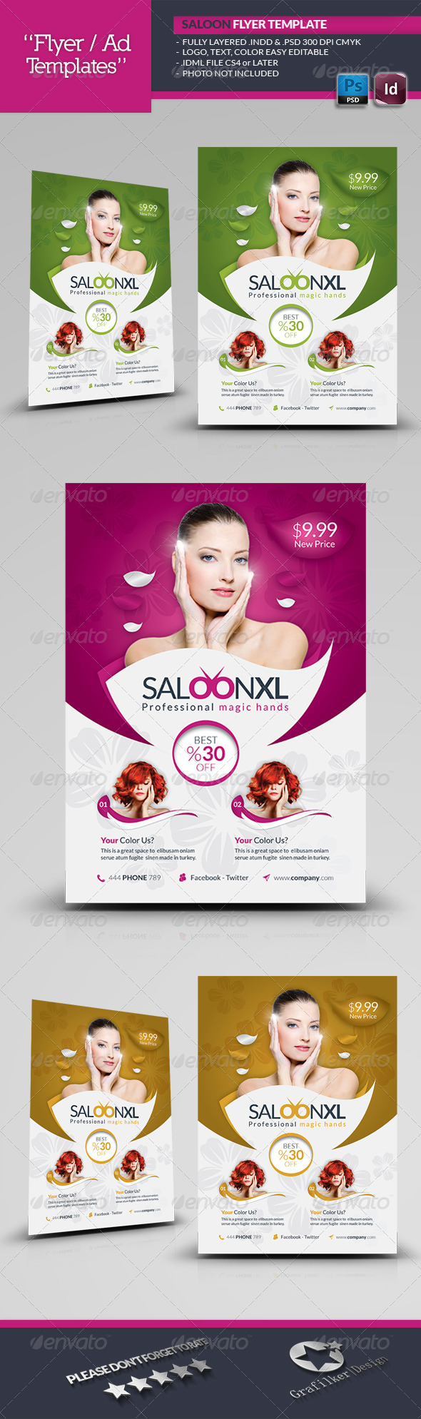 GraphicRiver Beauty Saloon Flyer Template 6016984