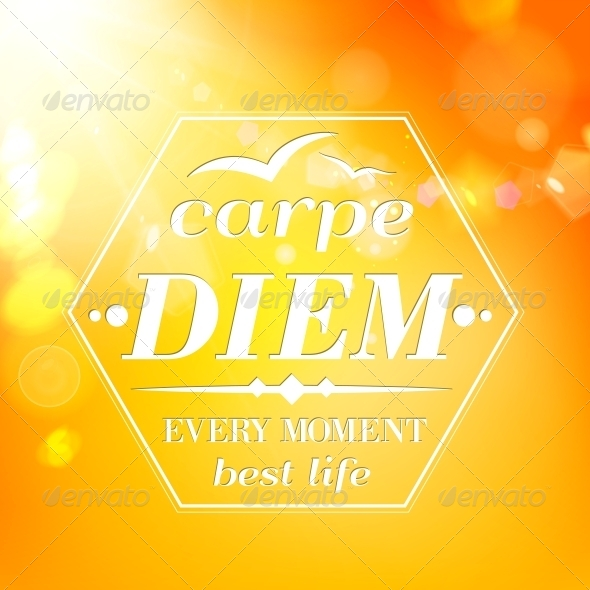 GraphicRiver Carpe Diem Summer Orange Typography 6017397