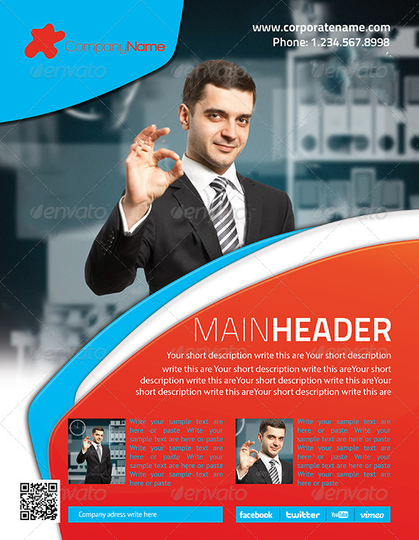 Corporate Flyer 6 PSD