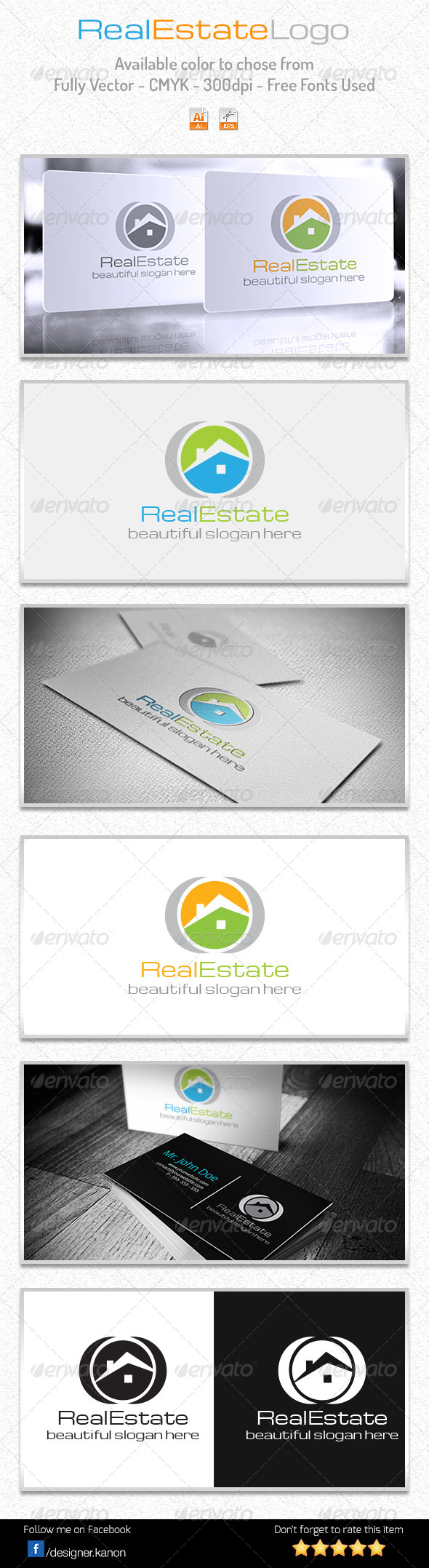 GraphicRiver Simple Real Estate Logo 6017626