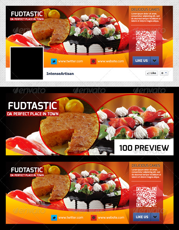 GraphicRiver Fudtastic Facebook Page Cover 6018167