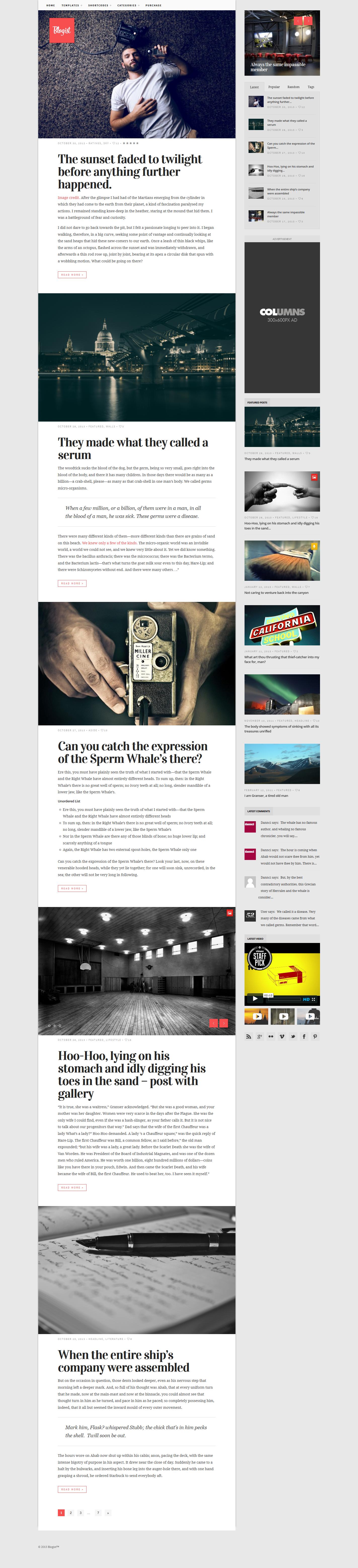 Blogist - Personal Blog theme