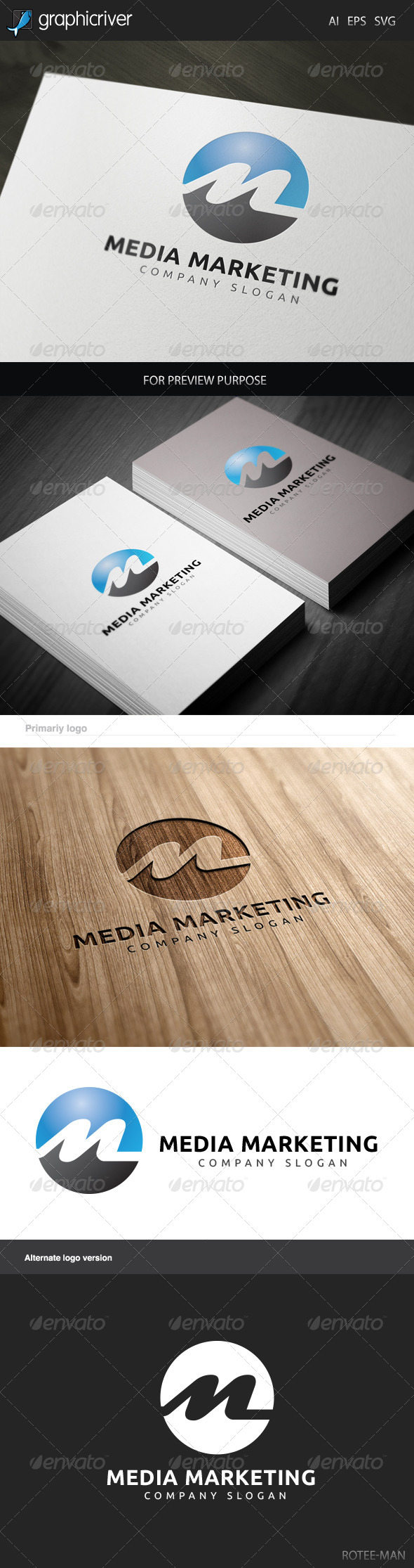 GraphicRiver Media Marketing Logo 6018267