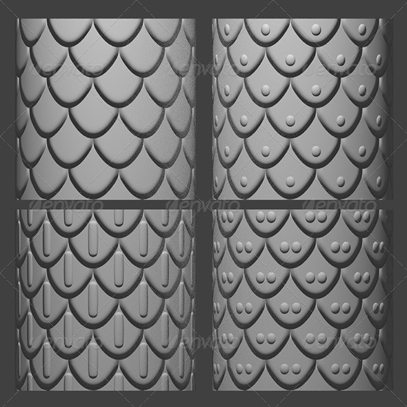 3DOcean Armor Scales Normal Map Set 1 6018350