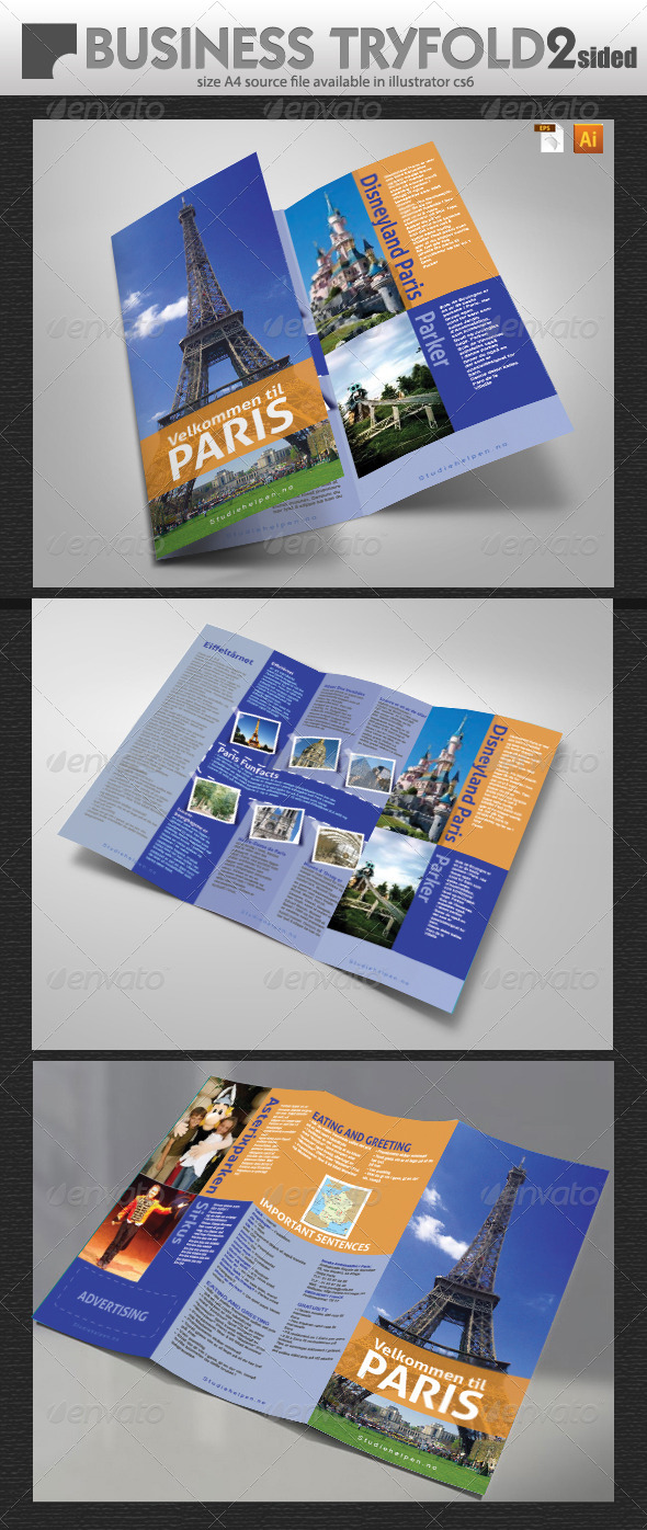GraphicRiver Tourist Guide Tri-Fold 6018431