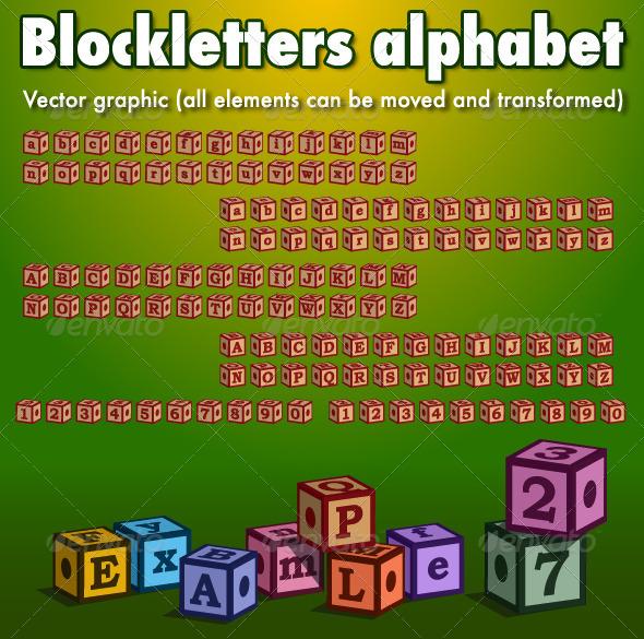 GraphicRiver Blockletters Alphabet 6018440