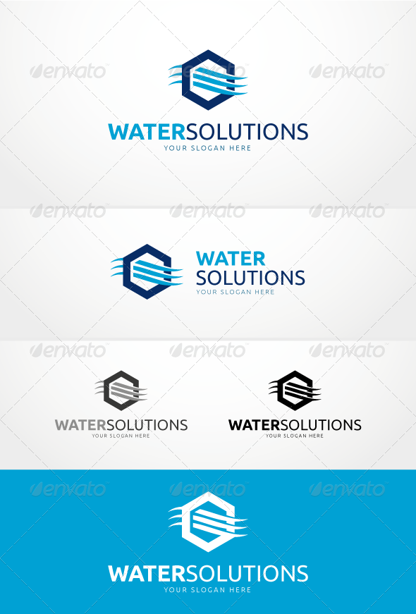 GraphicRiver Water Solutions Logo Template 6018908