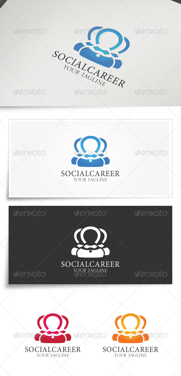 GraphicRiver Socialcareer Logo Template 6019240
