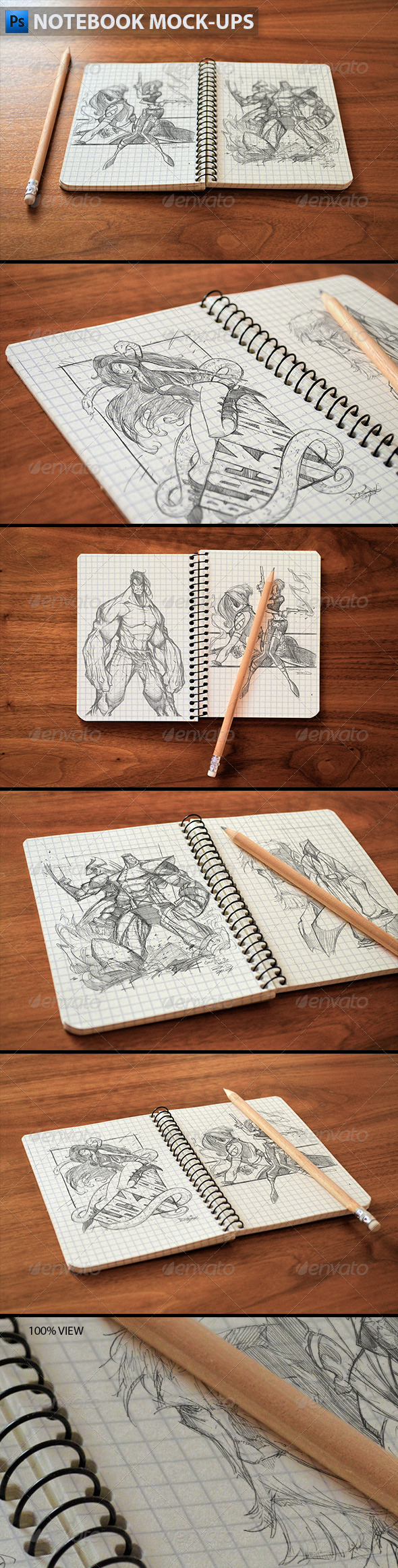 GraphicRiver Notebook Mock-Ups 5984477