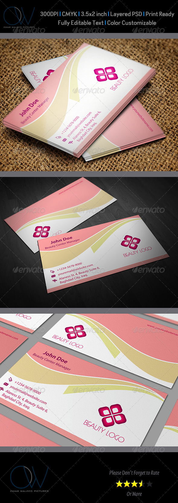 GraphicRiver Beauty Salon Business Card Template Vol.1 6019973
