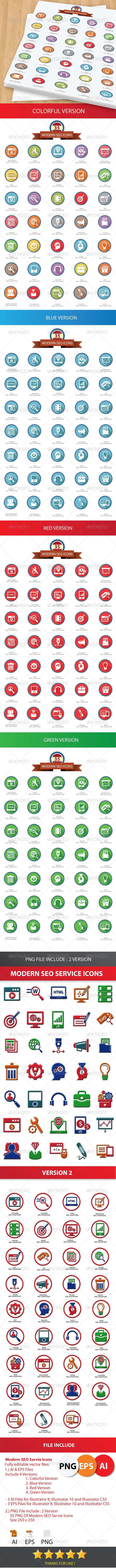 GraphicRiver 35 Modern SEO Icons 6020097