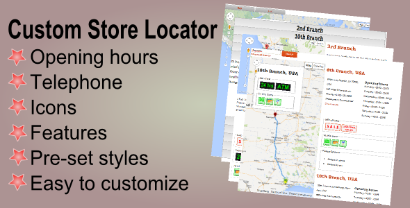 CodeCanyon Custom Store Locator 6020557