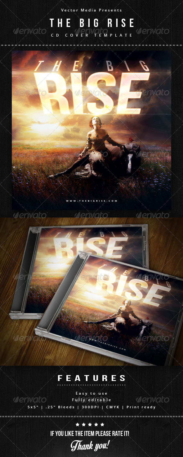 GraphicRiver The Big Rise Cd Cover 6009693