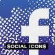 Halftone Social Media Buttons - WorldWideScripts.net Item for Sale
