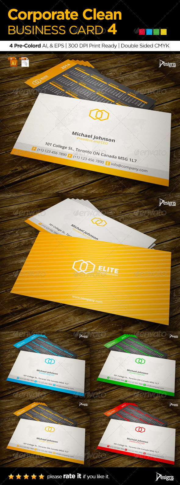 GraphicRiver Corporate Clean Business Card 4 6021564