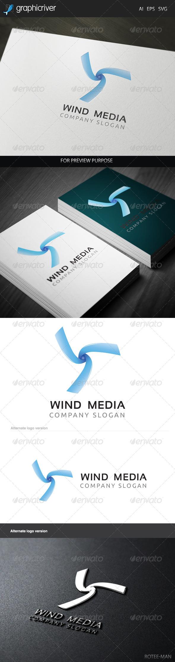 GraphicRiver Wind Media 2 Logo 6021598