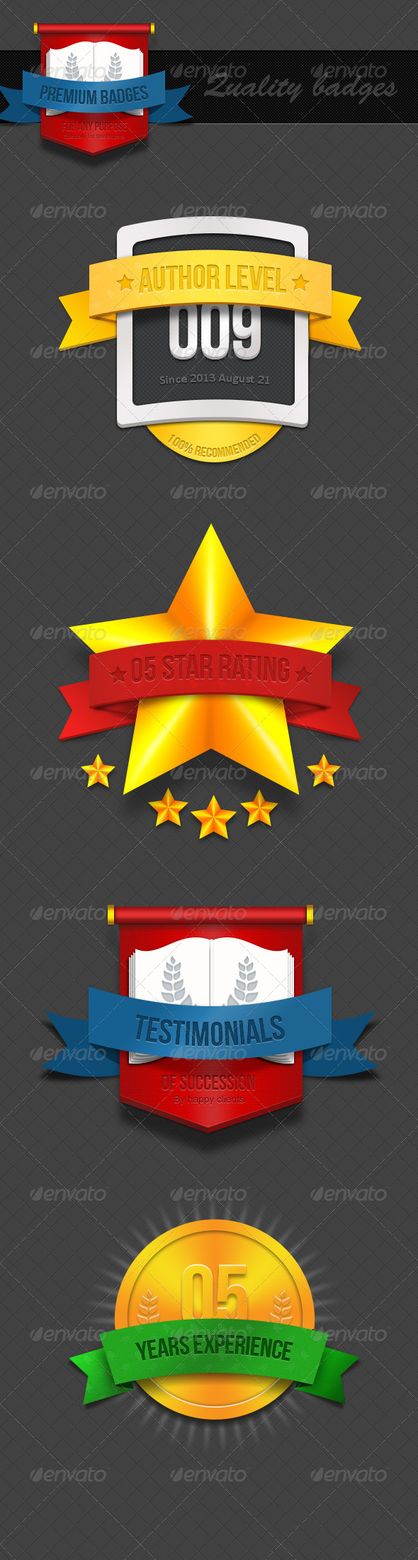 GraphicRiver Realistic 3D Badges 6021759