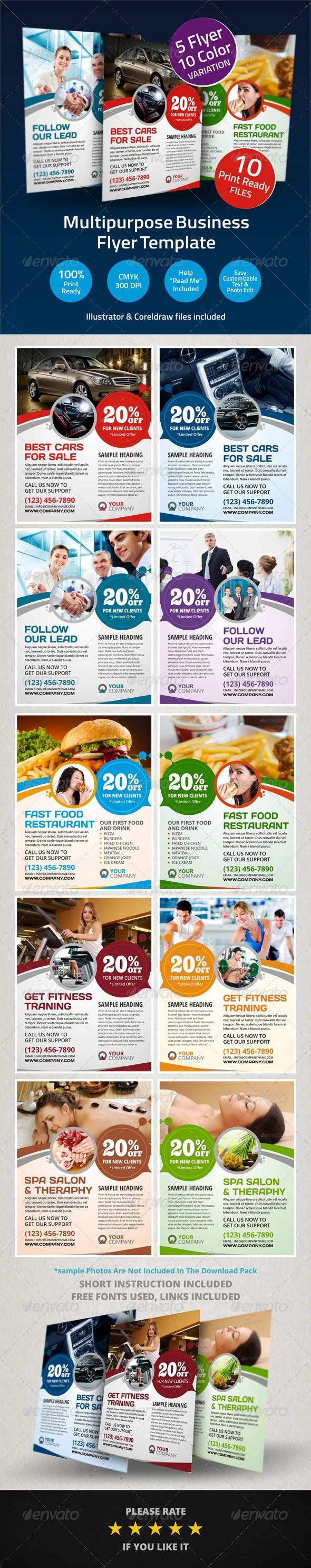 GraphicRiver Multipurpose Business Flyer Template 6021781