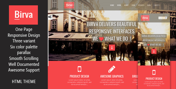 ThemeForest Birva- Responsive Multipurpose One Page HTML Theme 5987576