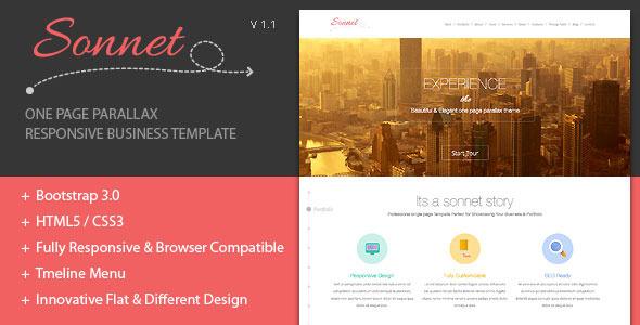 Sonnet - One Page Parallax Multipurpose Portfolio - Creative Site Templates