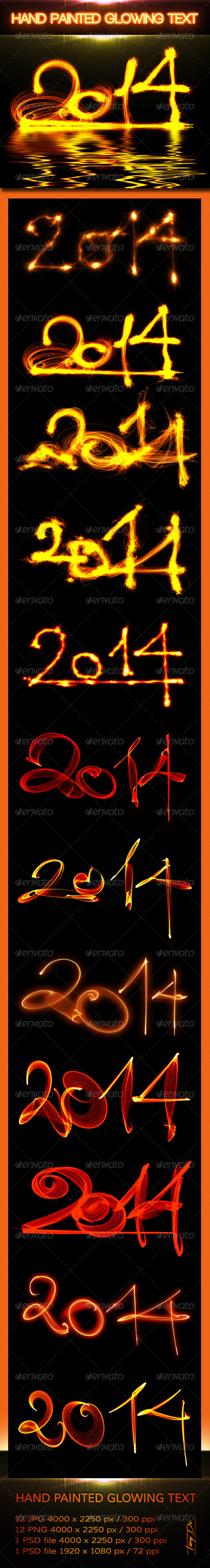 GraphicRiver 2014 Hand Painted Glowing Text 6022440