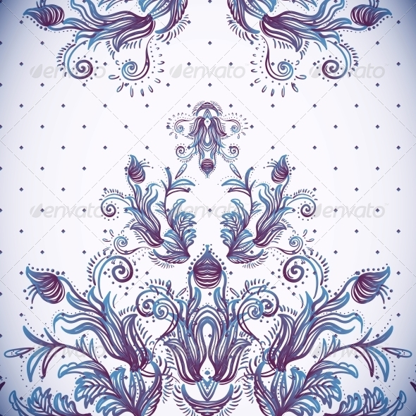 GraphicRiver Vintage Background Baroque Pattern 6022591