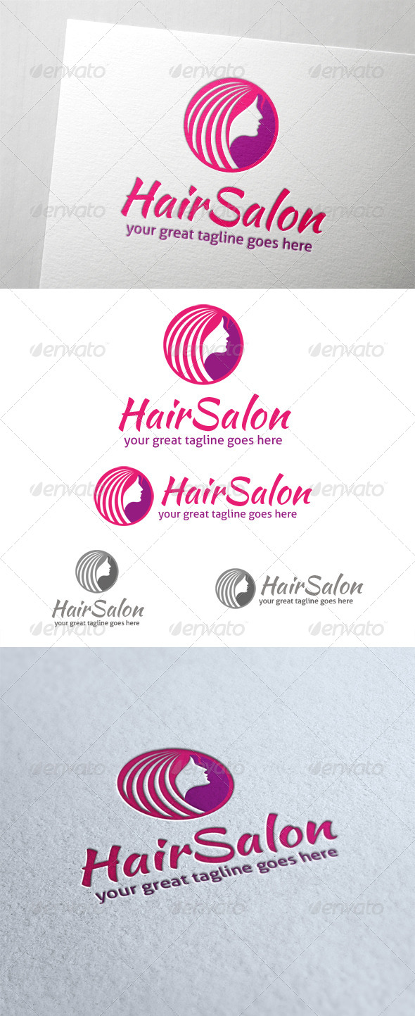 GraphicRiver Hair Salon Logo 6022707