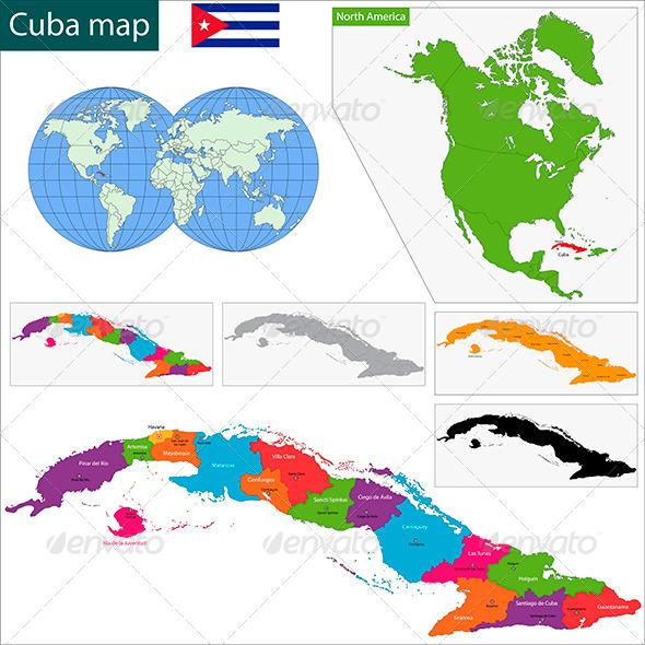 GraphicRiver Cuba Map 6022710