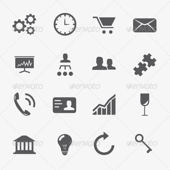 GraphicRiver Business and Strategy Icons Vector Set 6022746