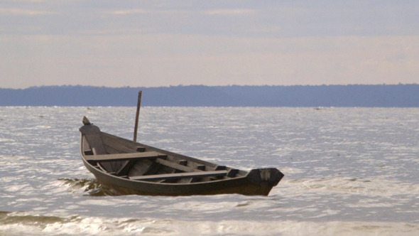 Boat on Amazon Shore