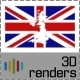 Great Britain Inverse Flag Map 3D - GraphicRiver Item for Sale