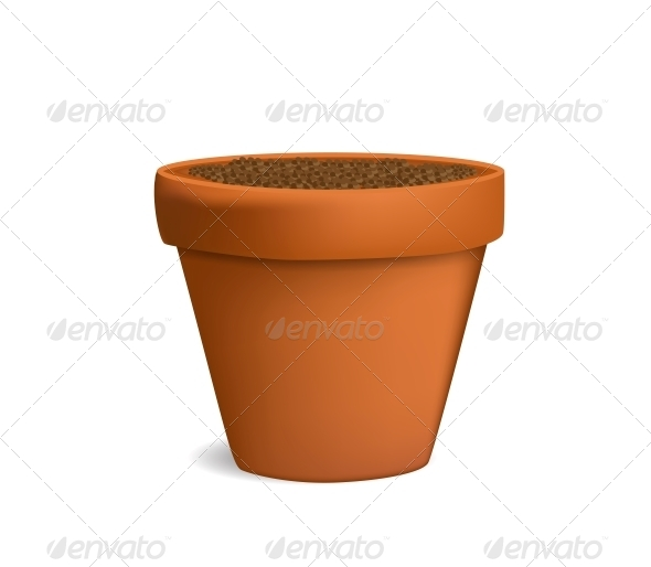 GraphicRiver Flowerpot with Dirt Vector Illustration 6022801