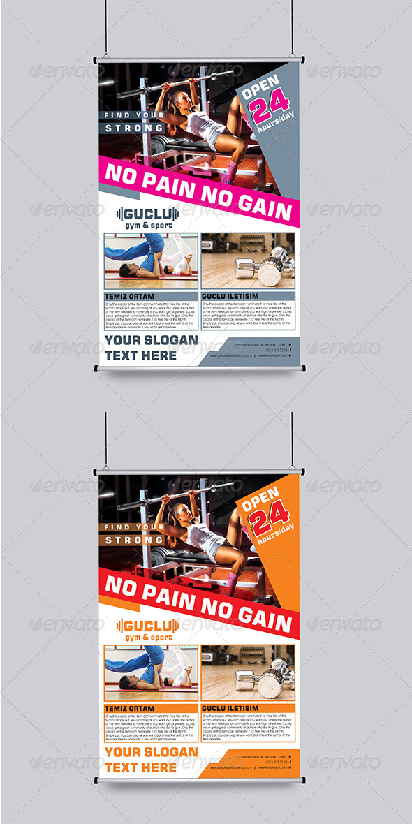 GraphicRiver Gym&Sport Flyer Template 6022965