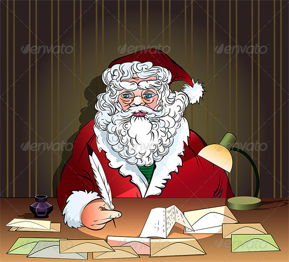 GraphicRiver Santa and Letters 6023108