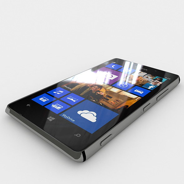 3DOcean Nokia Lumia 925 Black 6023409