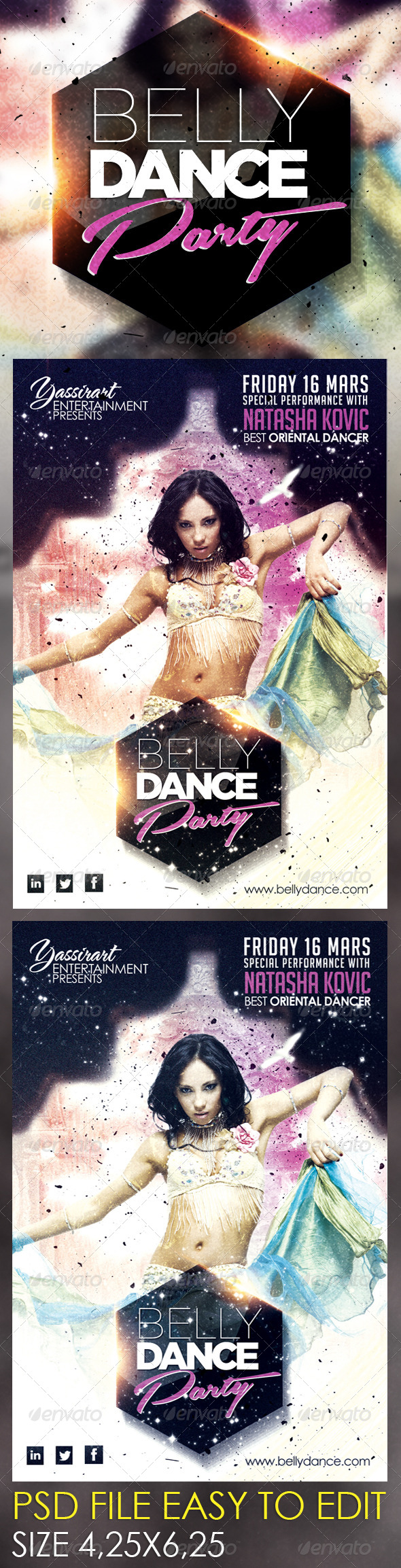 GraphicRiver Belly Dance Party Flyer Template 6023418