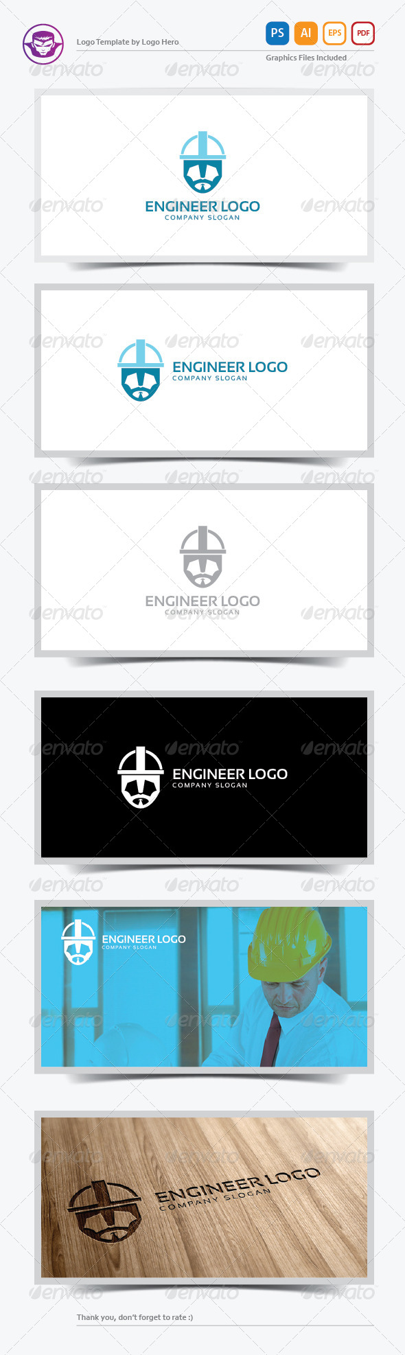 GraphicRiver Engineer Logo Template 6023460