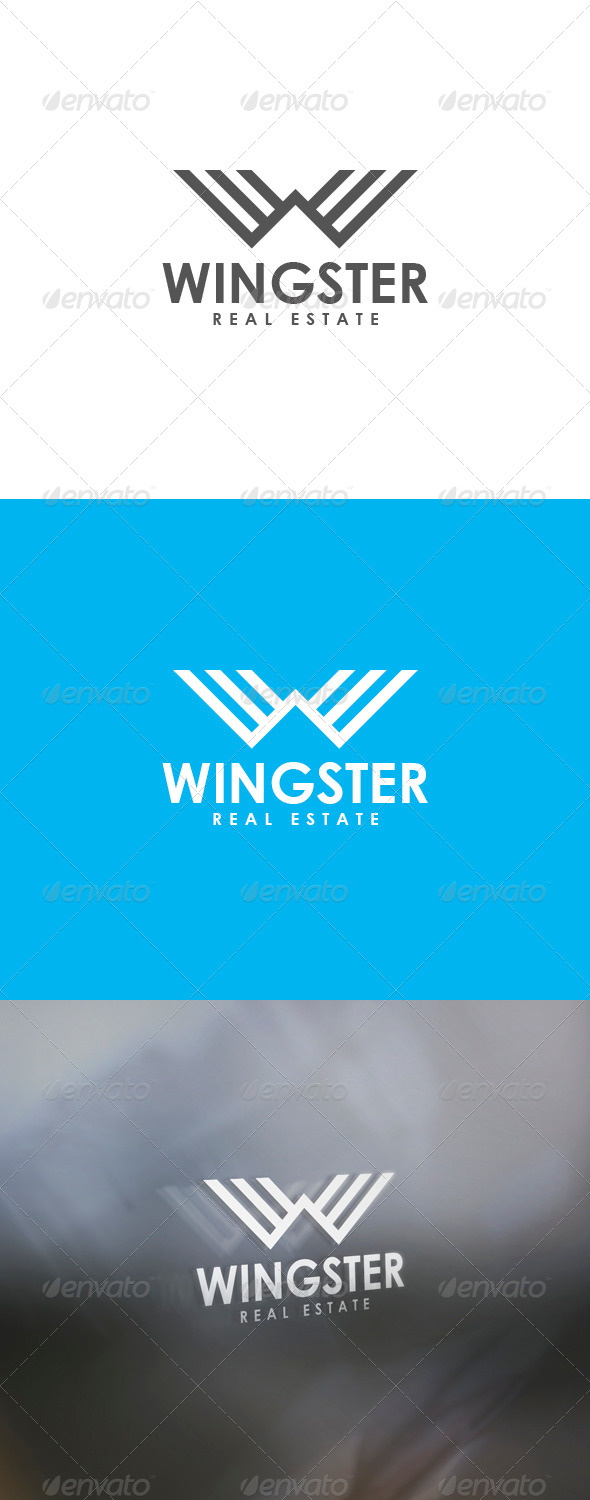 Wingster Logo - Letters Logo Templates
