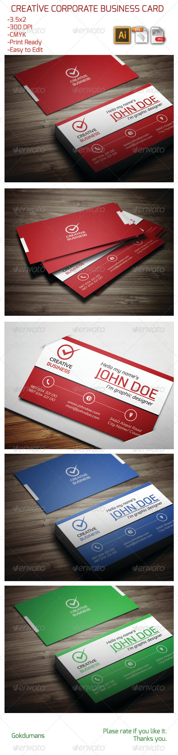 GraphicRiver Creative Corporate Business Card 13 6023832