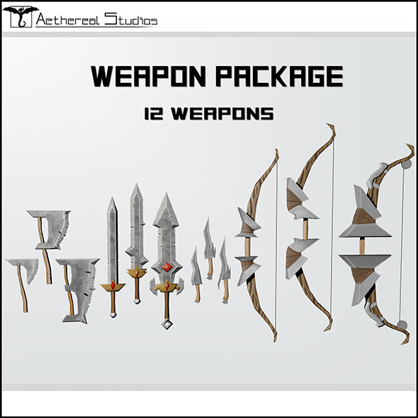 3DOcean Fantasy Weapon Pack 6023884