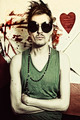 Portrait of young punk in round sunglasses - PhotoDune Item for Sale