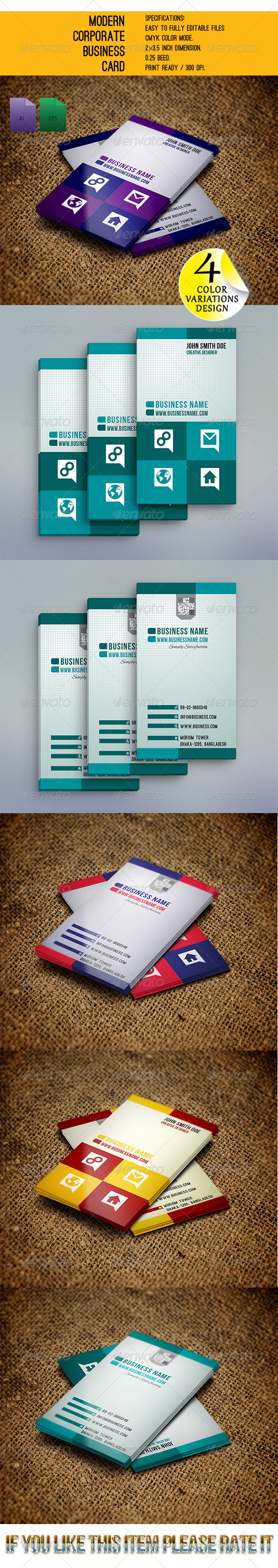 GraphicRiver Modern Corporate Business Card GD008 6024070